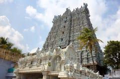 Suchindram tempel. Kanniyakumari Tamilnadu, Kerala, Indien Arkivfoto