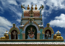 Suchindram temple dedicated to the gods Shiva, Vishnu and Brahma Royalty Free Stock Photography