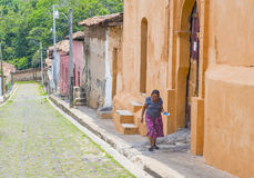 Suchitoto , El Salvador. MAY 07 : Street view of Suchitoto El Salvador on May 07 2016. the colonial town of Suchitoto built by the Spaniards in the 18th Royalty Free Stock Image