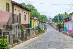 Suchitoto , El Salvador. MAY 07 : Street view of Suchitoto El Salvador on May 07 2016. the colonial town of Suchitoto built by the Spaniards in the 18th Royalty Free Stock Photography