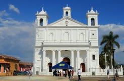 Suchitoto kyrka, El Salvador royaltyfria foton