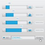 Suchkasten, der Infographic lädt Lizenzfreie Stockbilder