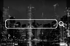 Suchkasten-Netz-on-line-Technologie-Internet-Website-Konzept stockfoto
