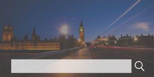 Suchkasten-Netz-on-line-Technologie-Internet-Website-Konzept stockfotos