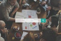 Suchmaschine-Optimierungs-Internet, das Konzept findet lizenzfreies stockfoto