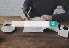 Suchmaschinen-Optimierung, die Webseiten-Konzept sucht lizenzfreie stockbilder