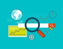 Suchmaschinen-Optimierung, Netzanalytik und Statistiken vektor abbildung