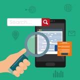 Suchmaschinen-Optimierungs-Design Lizenzfreies Stockbild