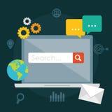 Suchmaschinen-Optimierungs-Design Stockfotos
