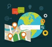 Suchmaschinen-Optimierungs-Design Lizenzfreie Stockfotos