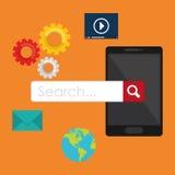 Suchmaschinen-Optimierungs-Design Stockfotografie