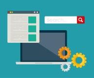 Suchmaschinen-Optimierungs-Design Lizenzfreies Stockfoto