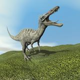 Suchomimus dinosaur roaring - 3D render Stock Photography