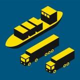 Suchy ładunek i ciężarówki Zdjęcia Stock
