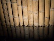 Suchy bambusowy tekstury dokładnie pionowo prosty ścienny podłogowy ligh obrazy stock