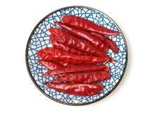 Suchy czerwony pieprz zdjęcia stock