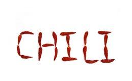 Suchy czerwony pieprz na białym tle Obraz Royalty Free