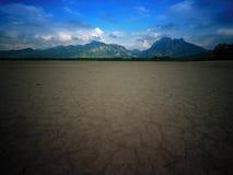 Suchy forggensee w Niemcy z kasztelem zdjęcie royalty free