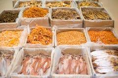 Suchy jedzenie na rynkach Zachodni Hong Kong zdjęcia stock