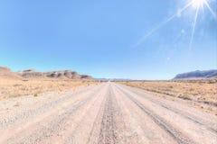 Suchy krajobraz Namibia Zdjęcia Stock