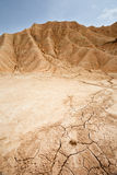 Suchy ląd w Bardenas Reales, Navarra, Hiszpania Obraz Stock