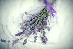 Suchy lawendowy bukiet - wysuszony lawendowy kwiat Zdjęcie Stock