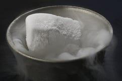 Suchy lód w pucharze Fotografia Stock