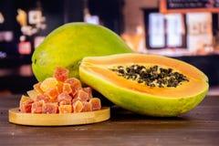 Suchy melonowiec z restauracją zdjęcie stock