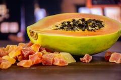 Suchy melonowiec z restauracją fotografia royalty free