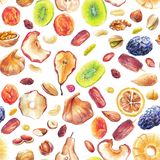 Suchy owoc wzór royalty ilustracja