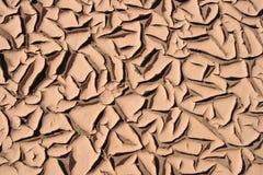 suchy pęknięte piasku Zdjęcia Royalty Free
