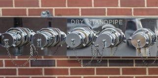 Suchy Pożarniczego działu Standpipe Fotografia Stock