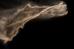 Suchy rzeczny piasek z kamiennym wybuchem zdjęcie royalty free