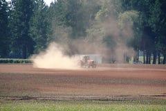 Suchy, spieczony, grunt rolny obrazy stock