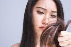 suchy włosy fotografia stock