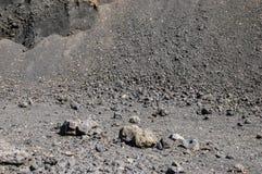 Suchy widok powulkaniczne skały zdjęcia stock