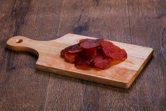 Suchy wieprzowiny mięso zdjęcie stock