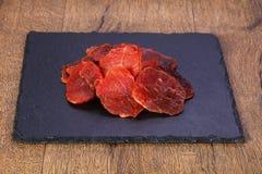 Suchy wieprzowiny mięso fotografia royalty free