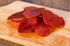 Suchy wieprzowiny mięso obraz stock