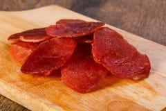 Suchy wieprzowiny mięso zdjęcie royalty free
