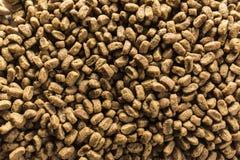 Suchy zwierzęcia domowego odżywiania zakończenie w górę tła Fotografia Stock