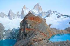 Sucia и озера Лос Tres горой Fitz Роя Стоковая Фотография RF