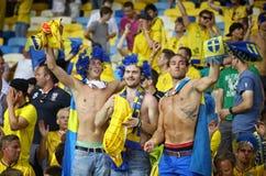 Suécia 2012 do jogo do EURO do UEFA contra França Fotografia de Stock Royalty Free
