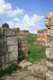 Sucidava,老城市,门户 免版税库存图片