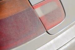 Suciedad en las linternas del coche fotos de archivo libres de regalías