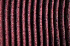 Suciedad en los elementos del filtro de aire de motor imagen de archivo