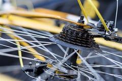 Sucio del engranaje viejo de la bicicleta Fotos de archivo