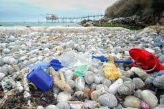 Sucio en la playa Imágenes de archivo libres de regalías