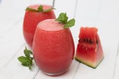 Suco caseiro fresco da melancia Imagem de Stock