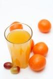 Suco com composição da fruta. Fotografia de Stock